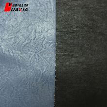 Latest custom design artificial flocked pu synthetic foiled flock leather