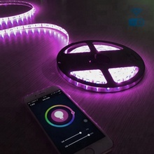 Christmas lights outdoor waterproof smart round RGB led strip light TUYA compatible with Alexa