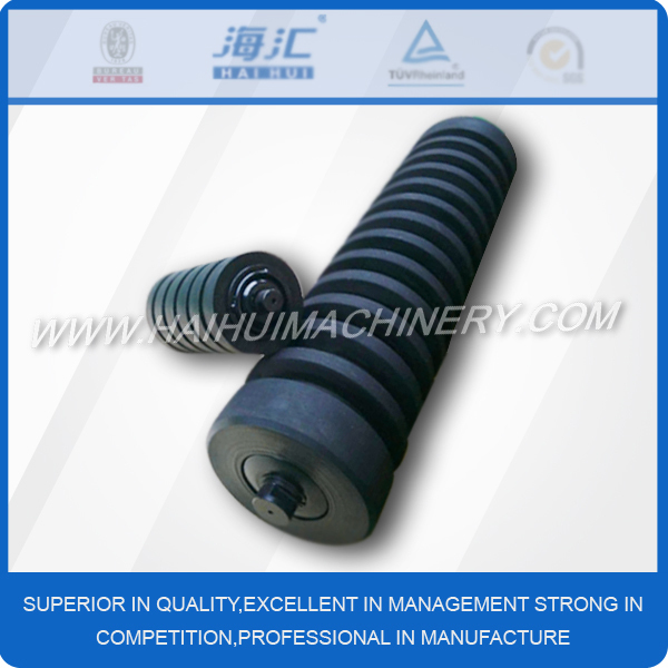 2017 new product Rubber ring coated conveyor impact roller