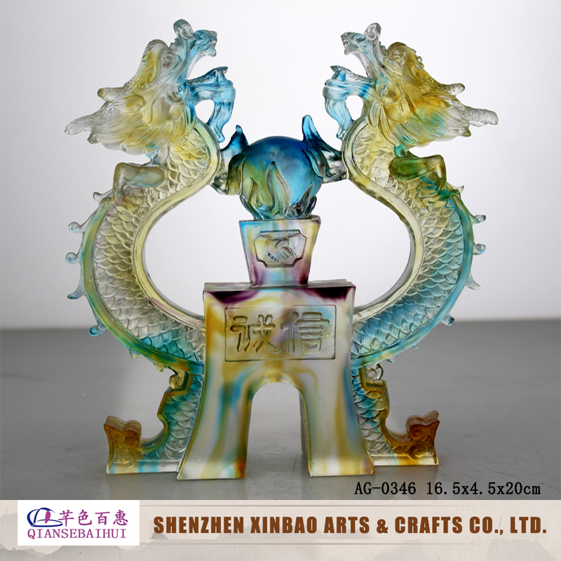 2016 Hot selling custom stained glass dragon pattern