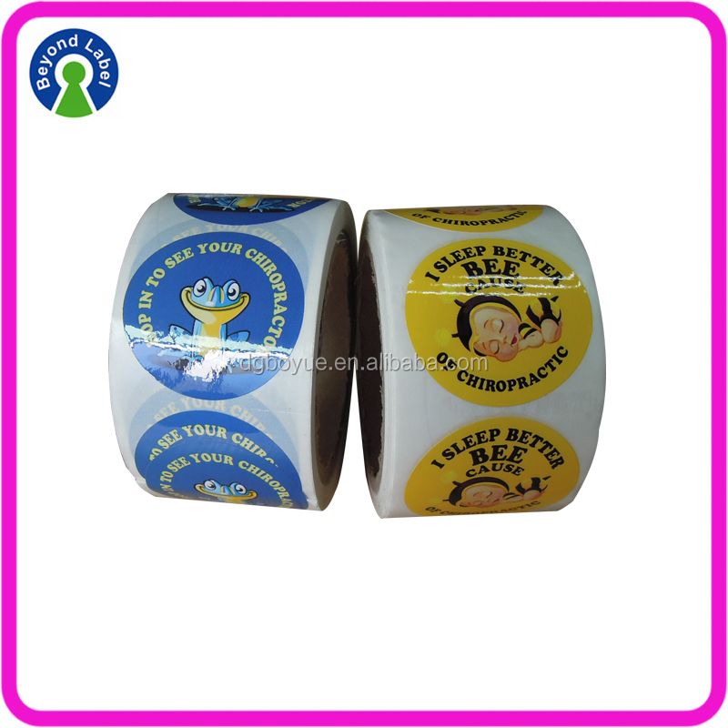 PVC Private Printing roll adhesive Children Toy custom labels
