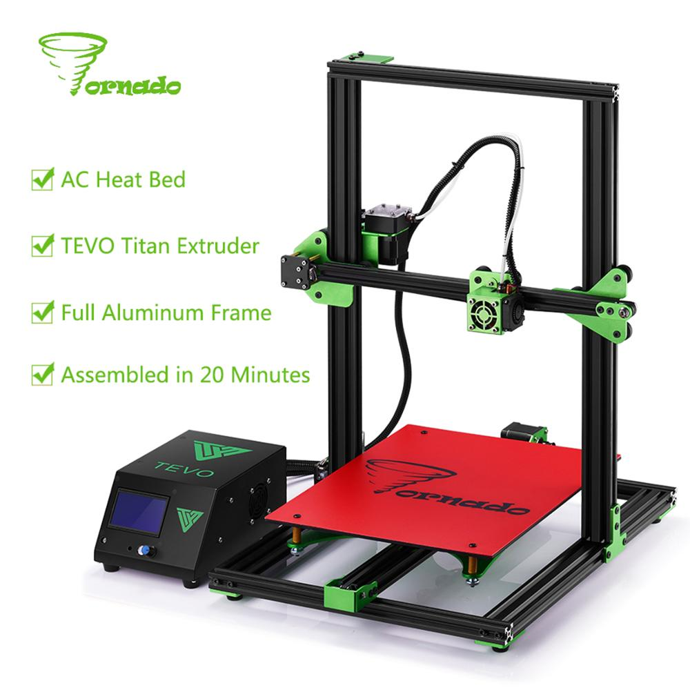 Tevo Tornado 3D printer Impresora I3 full metal High Precision Large printing size 3D Printer AC Heat Bed