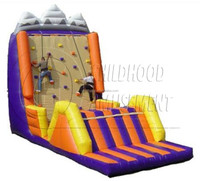 EN71 certificated climbing wall inflatable games, inflatable sports games