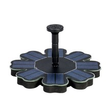 Anself Solar Pump Floating Water Fountain for Bird Bath Pond Garden Decoration 8V 1.6W Solar Panel Water Pump Kit H18227-1