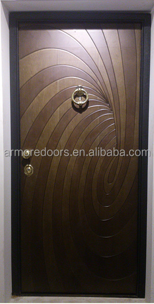 new design Italian steel wooden armored doors