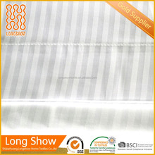 hotel used good price and reliable quality of flat sheet bed sheet with stripe