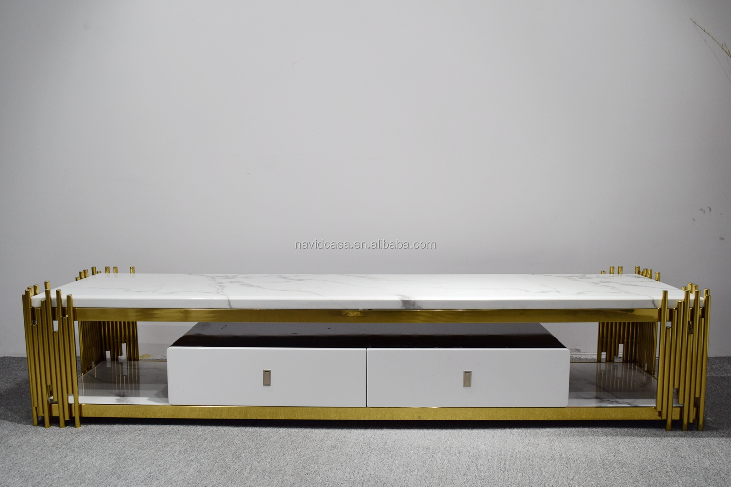 C21 Gold liviong room tv table with cabinet