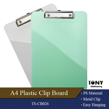 Best selling A4/A5/A6FC plastic clipboard folder