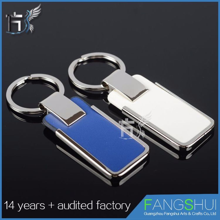 Custom Logo Side Stainless Steel Leather Keychain Keyring,Wholesale Fashion Metal Key Chain