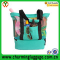 high quality large mesh beach bag tote with insulated cooler picnic