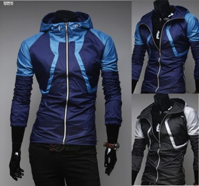 Ready-made 2015 New Fashion Fitting Hooded Running Sports Jacket For Men Sportwear