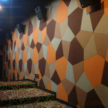 Polyester fabric acoustic wall panel for Cinema