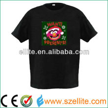 Multi new christmas design shirt 2013 illuminated tee shirts