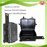 Military standard tricases M2720 IP67 injection mould hard plastic large safety tool case