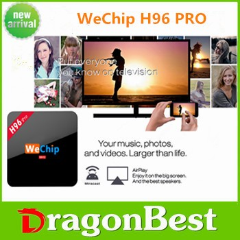 Amlogic S912 64bit 4K Android6.0 TV BOX Wechip-h96 pro 2G RAM 16G ROM KODI 17.0 preload SUPPORT ORM