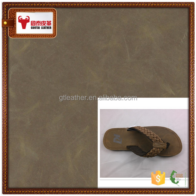 summer leather women slipper genuine leather raw cow leather