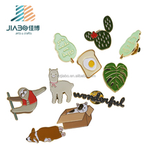 Korean different shape soft enamel metal custom pin badge