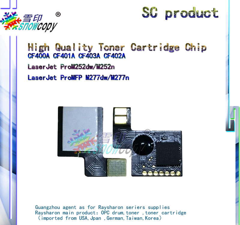 Toner Reset <strong>Chip</strong> compatible For CF400A CF401A CF403A CF402A LaserJet Pro M252dw/M252n LaserJet Pro MFP M277dw/M277n Toner <strong>Chip</strong>