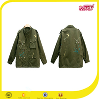 the new design fashion us army printed cotton jackets women 2016