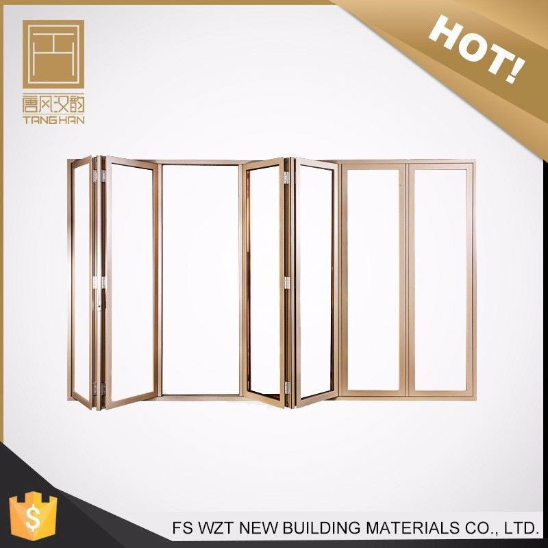 Alibaba china gold supplier soundproofed exterior or interior accordion folding door