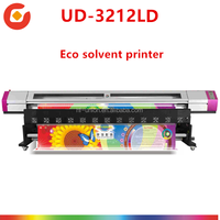Used Eco solvent printer with Epson dx5 heads Galaxy universal UD-3212LD Compare with roland printing and cutting machine