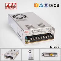 AC-DC S-300 300w 12v 24v 25a dc single output switching power supply/ led driver