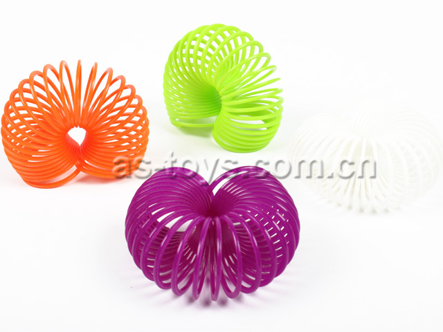 Colorful Small Rainbow Spring Ring Toy