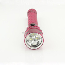 Red color high bright beam of light powerful waterproof 100m XML U2 led diving flashlight
