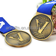 Customized design antique metal medals