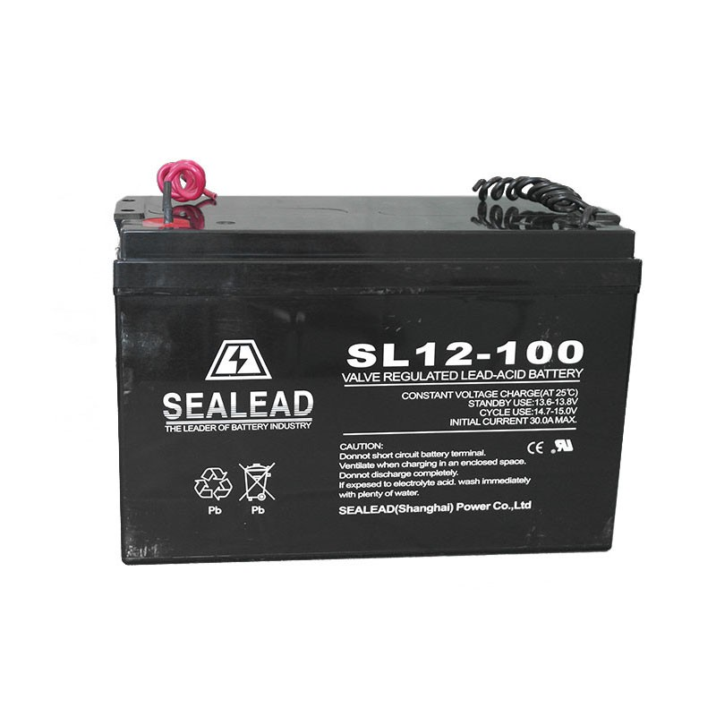maintenance free 12v 100A lead Acid battery used for emergency light