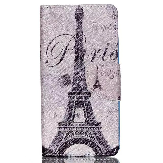 Printing pu leather wallet case for acer liquid z520