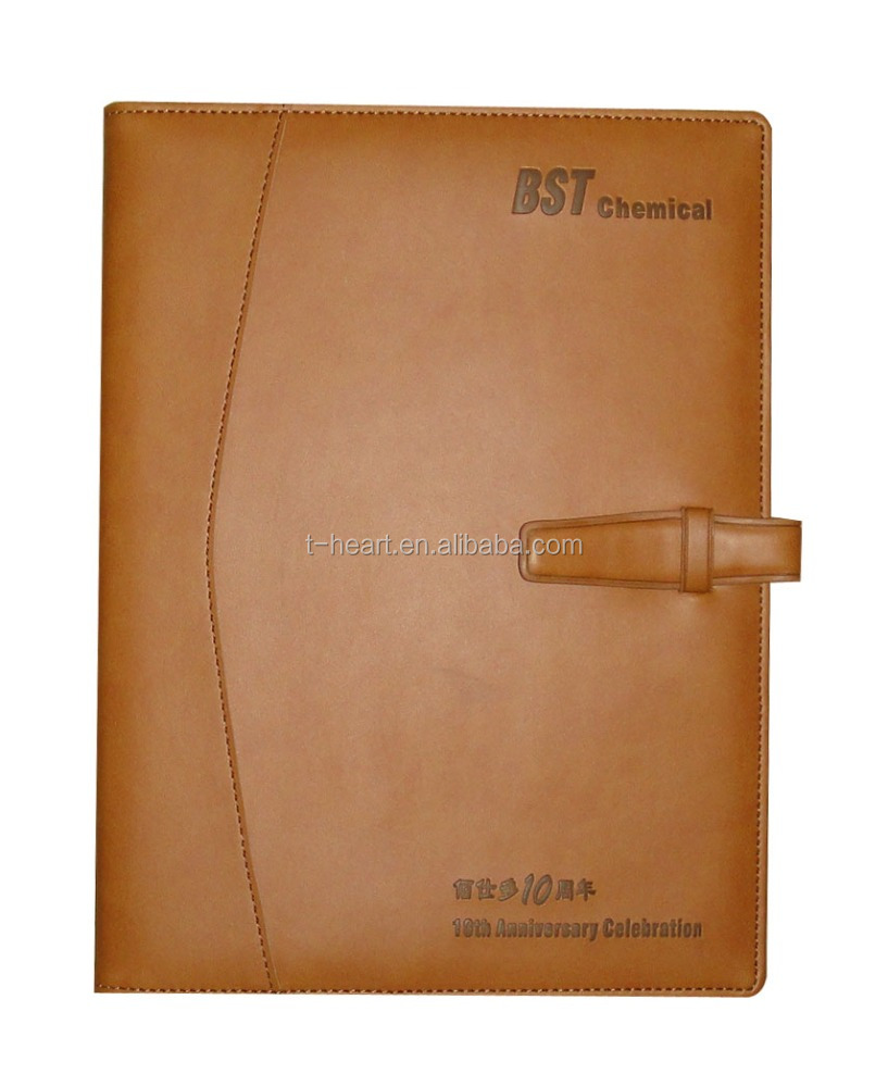 Executive Office Logo Printed Journal Diary Leather Notebook Cover