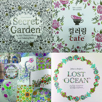 DHL Fedex free shipping 2015 factory direct selling secret garden adult coloring book/adults drawing books for wholesale