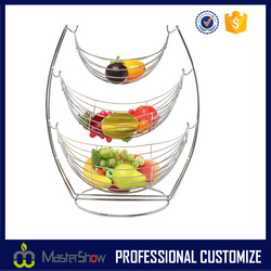 China Factory Fashion Design Storage Metal Wire Fruit Basket