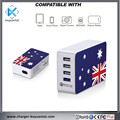Cell Phone accessories 4 port AU Plug Adapter SAA RCM C Tick Certificates AU Wall Plug QC 3.0 or QC 2.0 charger