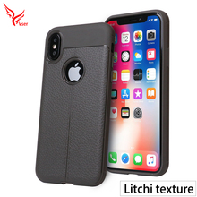 High quality black phone cover leather pattern soft tpu mobile phone case for iphone x