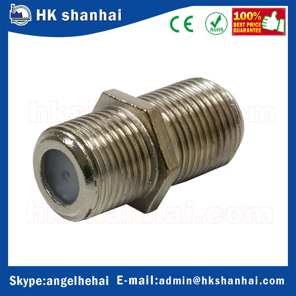 2016 low price F81 BNC connectors rg6 F-Type Female to Female Coaxial Coupler Adapter Connector