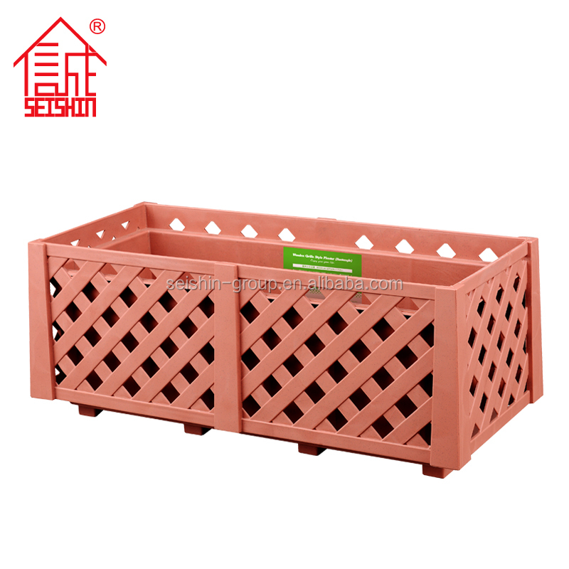 Professional Factory Durable Rectangular Rectangular Plastic Balcony Planters