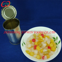 BRC, HACCP certificated canned fruit cocktail, mixed canned fruits