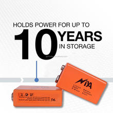 Hot sale 9V primary battery 6f22 9v battery alarm batteries for smoke detector and multimeter