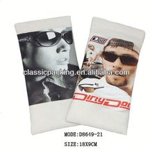 new style printed microfiber glasses pouch with spring