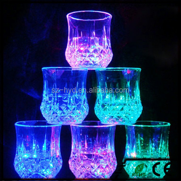 NT-FG01 Barware Plastic Flashing LED Glass unbreakable Cup And Mug