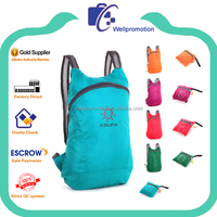 wellpromotion polyester folded bagpack