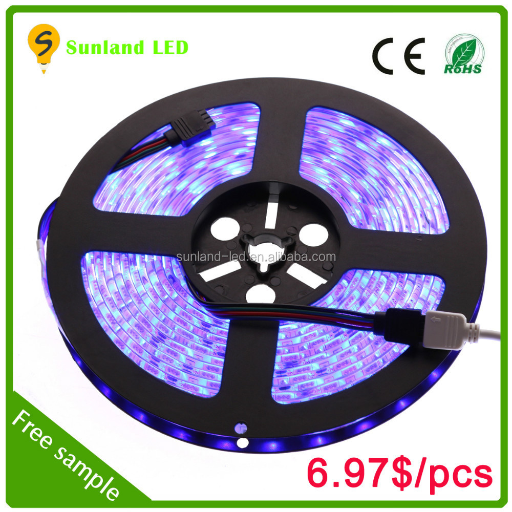 Flexible 12v IP65 LED Lamps led strips RGB LED strip 5050 small battery operated led strip light