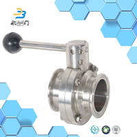 Water 300 class ss304 ss316 screw type butterfly valve price