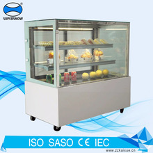 6 Feet long square cake display refrigerator with LED lighting