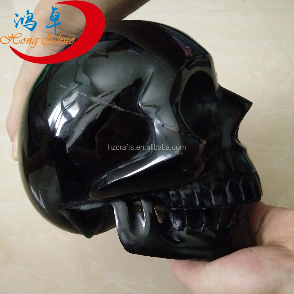 Wholsale Beautiful Unique Creative Rock Crystal polished obsidian Skull for sale