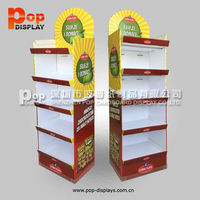 paper promotional floor stand displays for cola
