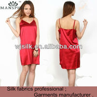 hot sexy ladies red silk satin babydoll