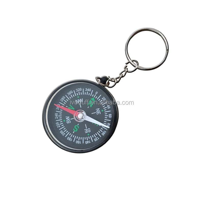 high quality 40mm diameter decoration compass with keyring for sale